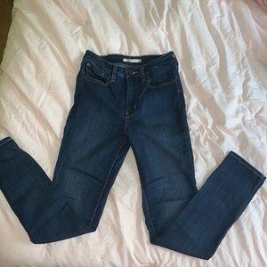 Levi's 721 high rise skinny jeans sz 28x30